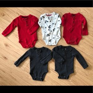Other - Thermal moose+solids onesies.matching twin lot.